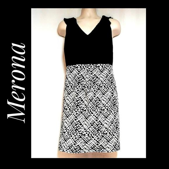 Merona Dresses & Skirts - Merona Sleeveless Black and White Career Dress